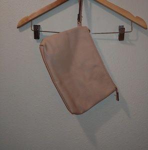 Steve Madden Faux Leather Clutch Bag Wristlet Pink